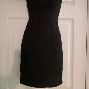 City Triangles Dresses - Black lace one shoulder homecoming dress